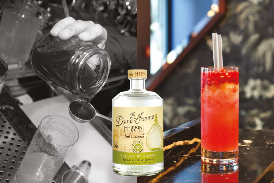 recette de cocktail au rhum Ferroni