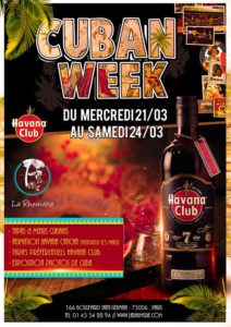 Cuban Week - Rhumerie à Paris