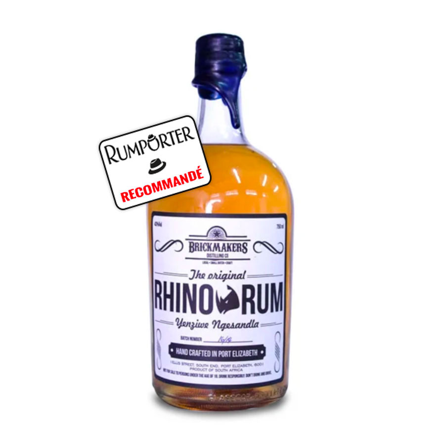 Brickmackers Distillery, Rhino Rum - 43%