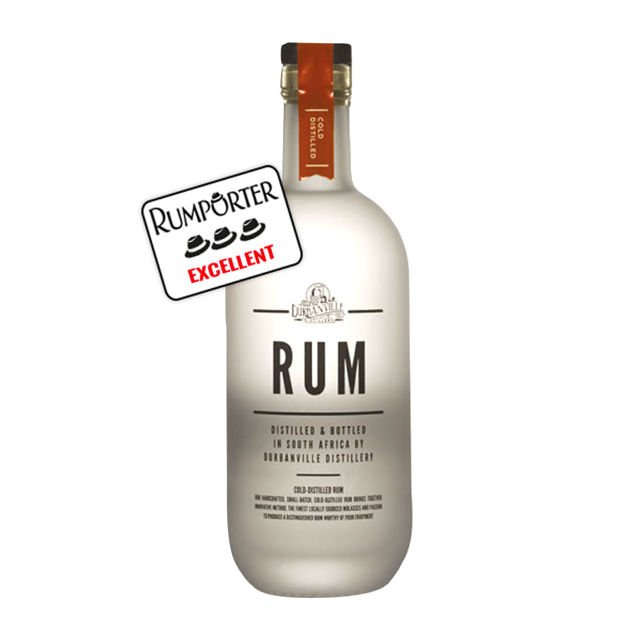 Durbanville Rum, rhum blanc distillation basse température - 43%
