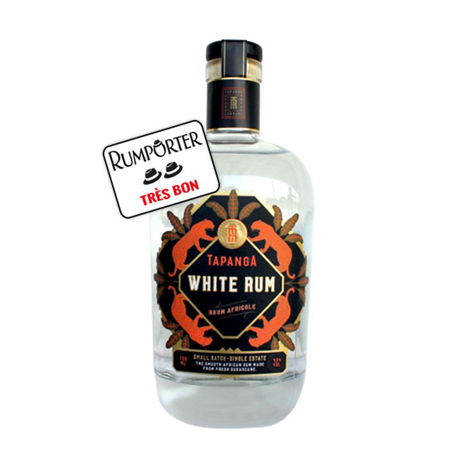 Tapanga White Rhum, rhum « Africole » blanc 43%