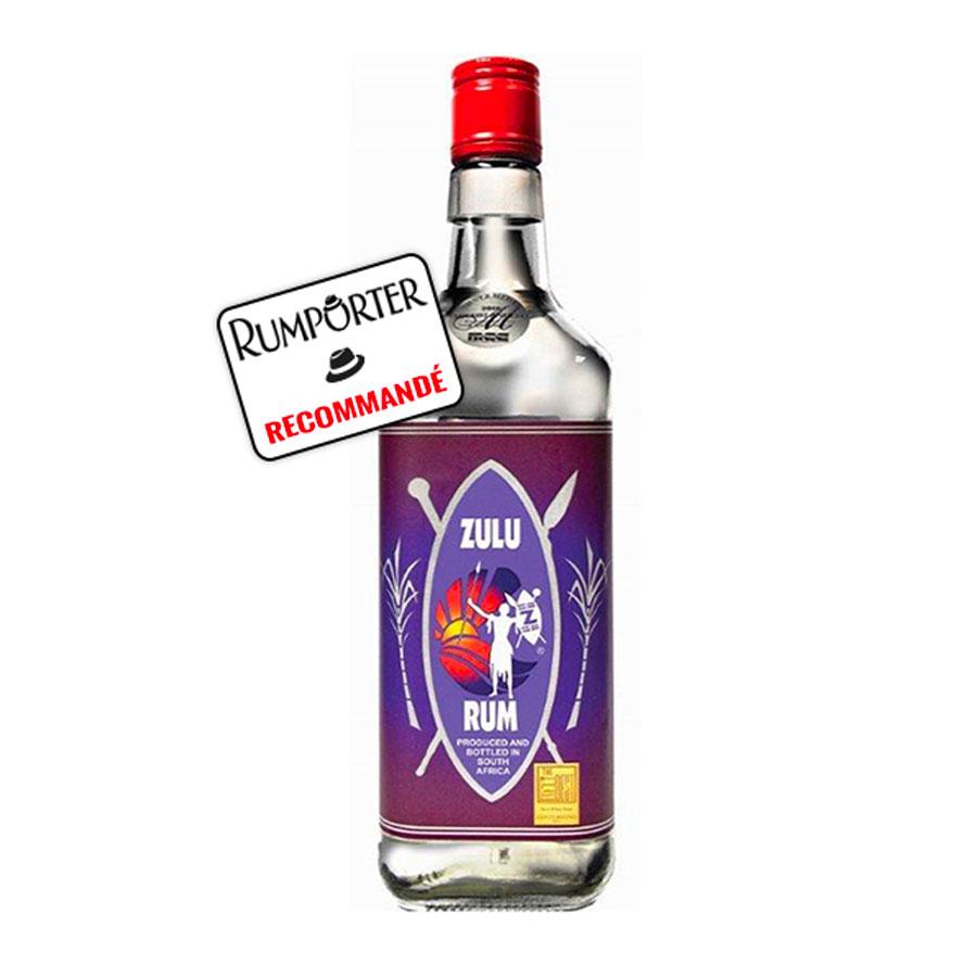 Zulu Rum, White Rum - 43%