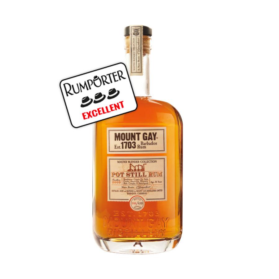 Mount Gay - Pot Still Rum 10 ans - 48%