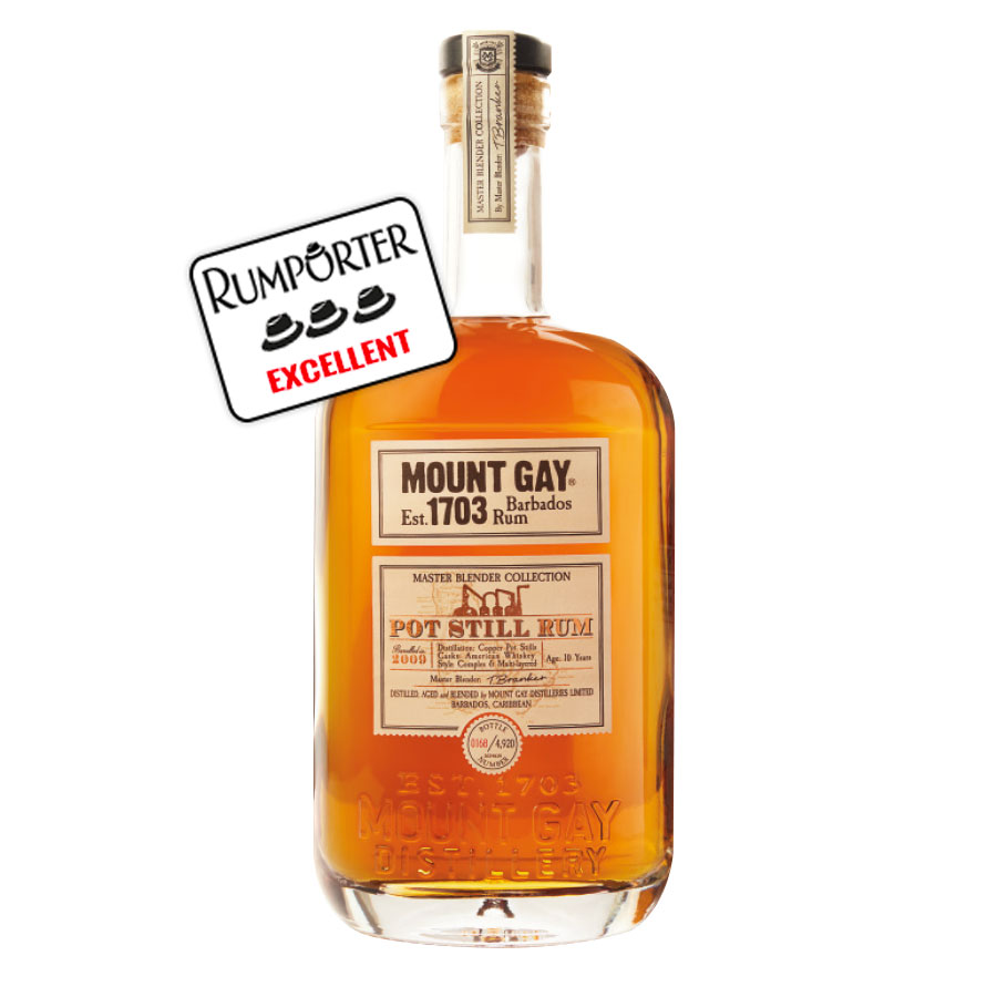 Mount Gay - Pot Still Rum 10 ans - 48%
