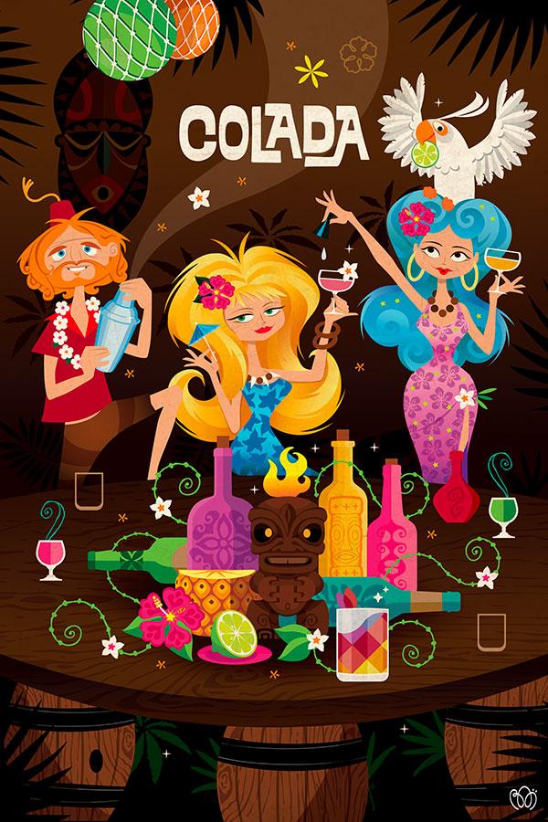 Atelier cocktail tiki colada