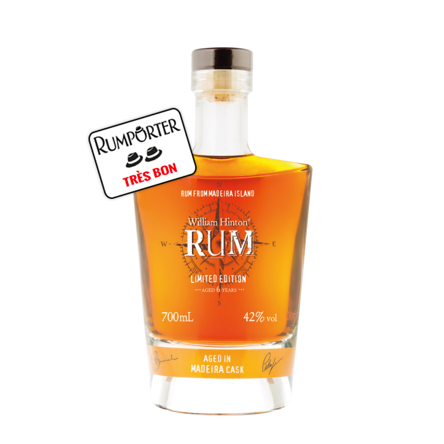 William Hinton Blended rum 6 ans - Single Cask Madeira (finish) - 42°