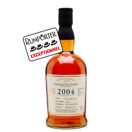 Foursquare 2004 Single Blended Rum 11 ans