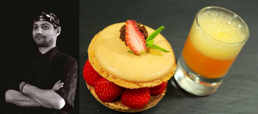Macaron aux Fraises, Mousse chocolat XO& Planteur «Mount Gay»