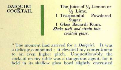 Livre sur les cocktails : Recette Daiquiri