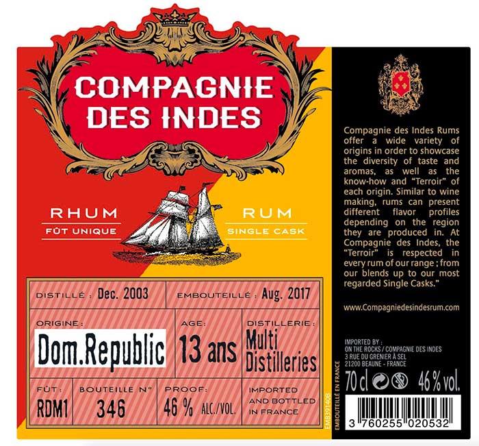 Compagnies des Indes - République Dominicaine Multi distilleries 14 ans
