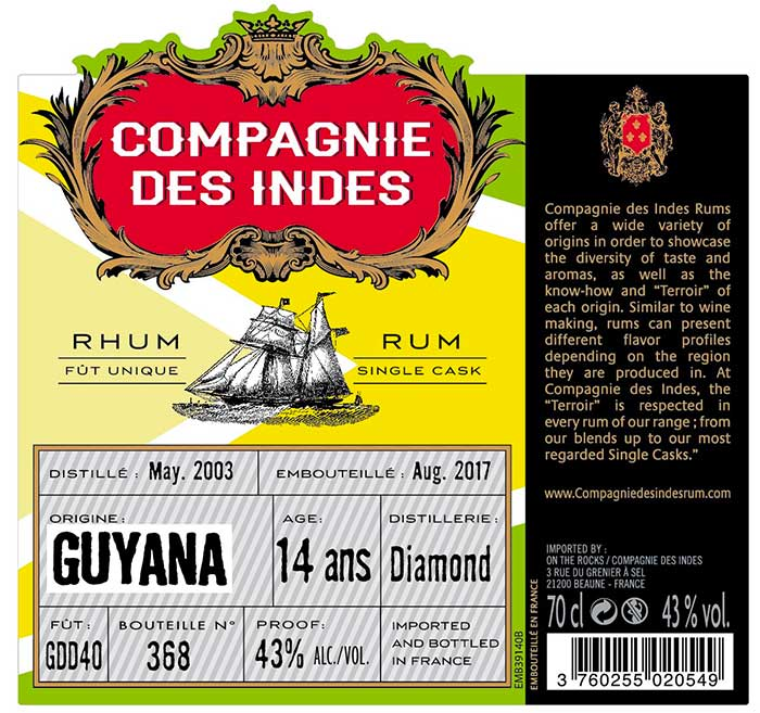 Compagnies des Indes - Guyana Diamond 14 ans