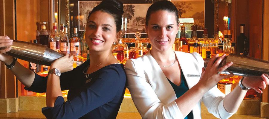 Genève : Bar de Four Seasons Hôtel des Bergues, le cocktail au rhum 5 étoiles