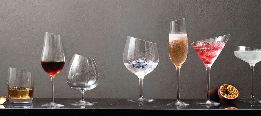 Collection de verres à whisky, cognac, gin, liqueur, schnapps, martini EVA SOLO