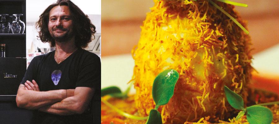 Recette à base de rhum : Œuf gras-cuit kadaïf curcuma au Rhum Isautier 7 ans