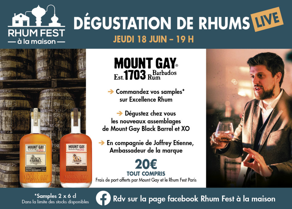 Degustation live de Mount Gay