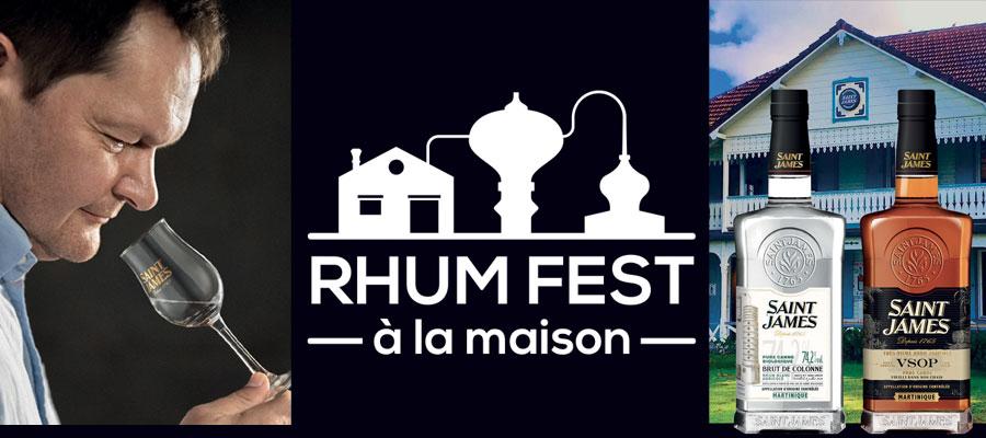 Le Rhum Fest à la Maison est de retour avec Saint James !