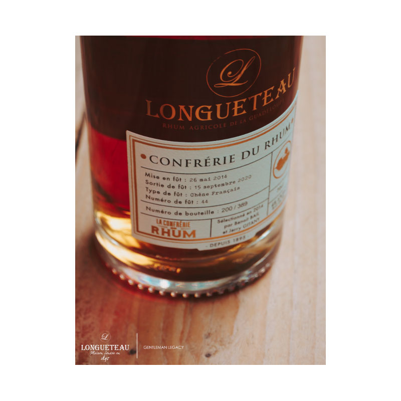 Longueteau - Confrérie du Rhum XO Single Cask fût 44