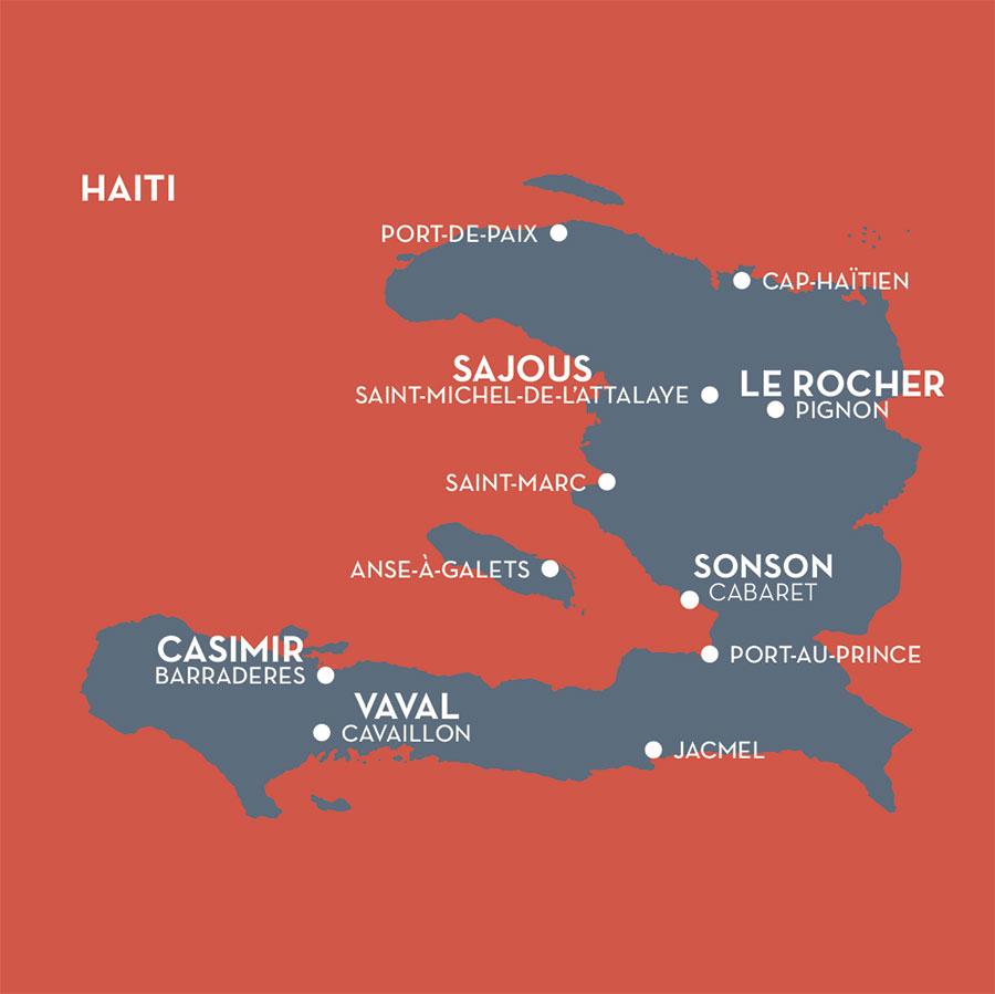 Carte Haiti Clairin